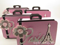 Mini Suitcase / Luggage Save the Date Birthday by SophiesPapers