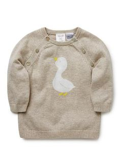 Baby Clothes Knitwear & Jumpers Newborn Clothes Knitwear & Jumpers | Duck And Intarsia Sweater | Seed Heritage