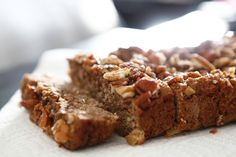 Apple Cinnamon Paleo Bread:  1 medium apple (finely diced)  1 cup almond flour  3 tablespoons coconut flour  1 tablespoon cinnamon  ½ baking soda  ¼ teaspoon sea salt  3 medium eggs (whisked)  2 tablespoons RAW honey  ¼ cup coconut oil (melted)  ¼ cup chopped pecans  Coconut oil spray