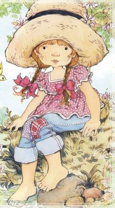 Holly Hobbie, Painting Patterns, Fabric Painting, Doodle Drawings, Cute Drawings, Sarah Kay Imagenes, Precious Moments, Prima Paper Dolls, Art Journal Prompts