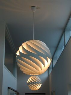 Louis Weisdorf; Enameled Metal 'Turbo' Ceiling Light for Lyfa, 1965.