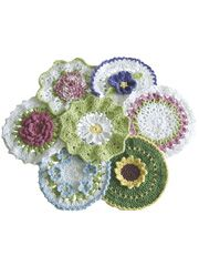 Crochet Patterns - Floral Bouquet of Dishcloths Pattern
