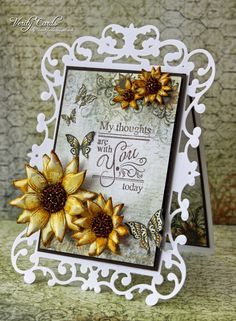 Card made using Spellbinders Reflective moments die and Heartfelt Creations…