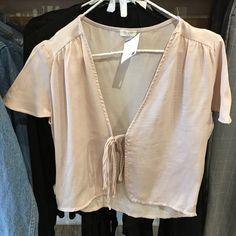 "BNWT pink leesa silky top 18"" front length, 20"" back length, 16"" bust Brandy Melville Tops Tees - Short Sleeve"