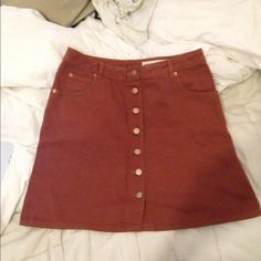 ASOS Button front skirt in size 12 ASOS Button front skirt in size 12 in denim suede looking lmao :-) ASOS Skirts