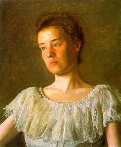 Painting of the Day!  Thomas Eakins (1844-1916) Portrait of Alice Kurtz Oil on canvas 1903  To see more works by this artist please visit us at: http://www.artrenewal.org/pages/artwork.php?artworkid=26960&size=large