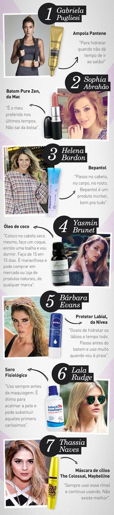Produtos de beleza indispensáveis das famosas, atrizes e blogueiras.