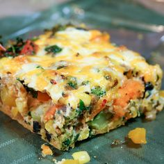Sweet Potato Broccoli Oven Baked Frittata