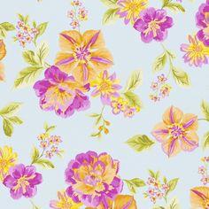 טפטים - פרחים מצויר גוני סגול-כתום