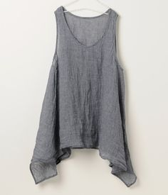 linen trapeze top. Needs less than a yard of fabric. Make several in different colors.