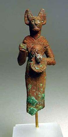 An Egyptian Bronze Bastet, Third Intermediate Period, 1069-702 BC