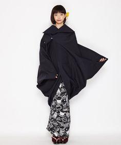 Yukata Kimono, Kimono Fabric, Daily Fashion, Fashion Art, Girl Fashion, Japanese Outfits, Japanese Fashion, Modern Kimono, Modernisme