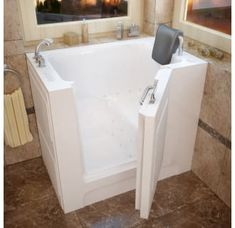 Shop for MediTub Left Drain White Whirlpool & Air Jetted Walk-In Bathtub. Get free delivery On EVERYTHING* Overstock - Your Online Home Improvement Store! Get in rewards with Club O!