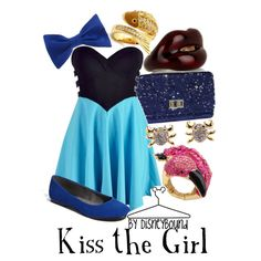 Kiss the Girl scene (from the Little Mermaid) inspired outfit! I love the dress... but I would pair it with sparkly heels