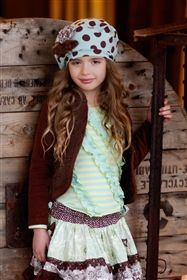 Mustard Pie Clothing - Gretchen Hat in Turquoise Brown