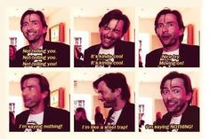 David does an excellent job of not talking about the Doctor Who special coming up