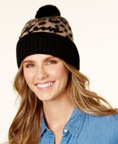 kate spade new york Brushed Leopard Print Beanie - Leopard