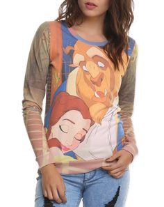 NWT Disney Princess Beauty & the Beast Belle Pullover Top Jumper Shirt   L  #Disney #Pullover