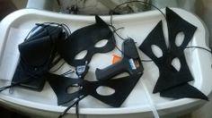 Criando mascaras para os convidados da festinha em casa!