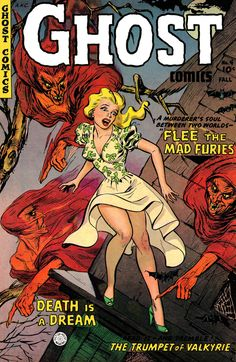Ghost Comics No 4 Pulp Comic Book Cover Image Shows Blonde Woman In Bright Dress…