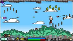 Rocketro is an arcade style game. Be a rocket and avoid the other rockets while trying not to crash.