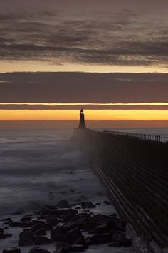 Taken at Tynemouth near Newcastle upon Tyne looking east and out towards the North Sea