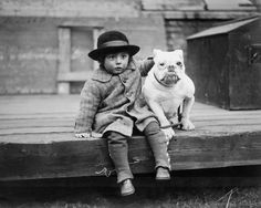 1926 George Spinney with his Bulldog at the Middlesex Hospital Open Championship Dog Show. Pinned by Judi Crowe.
