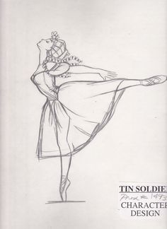 Fantasia 2000 The Steadfast Tin Soldier Ballerina Character Design-- Yay Shostakovich's Piano Concerto No. 2!