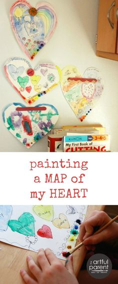 A Valentines Day Art Activity :: Painting a Map of My Heart