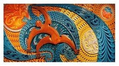 Tawhiri-Matea (God of the Winds) by Dr Cliff Whiting ( Born Te Kaha, NZ, 6 May 1936)
