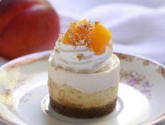 Peach Miniature Cheesecakes