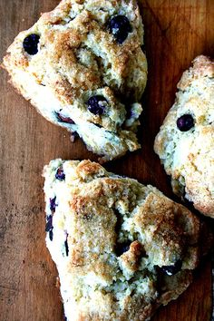 Amazing buttermilk blueberry scones. Buttery. Flaky. Crispy on top. Not too sweet. Lemony. Blueberry-y. Delicious. When you live hundreds of miles from Tartine, this recipe's a good one to know. If you've never had a scone before, start with these. // alexandracooks.com