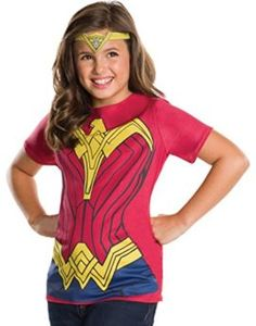 Rubies Costume Batman v Superman: Dawn of Justice Wonder Woman Child Top and Tiara I want to be wonder woman for halloween she is incredible! #DCcomics #wonderwoman #halloween #halloween2017 #superhero