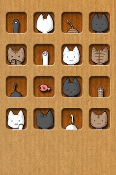 ~ Animated Cute Cat House Kitty Cat Hard Plastic Case for iPhone Crazy Cat Lady, Crazy Cats, Animal Gato, Cat Icon, Cat Posters, Cat Cards, All About Cats, Cat Drawing, Cute Wallpapers