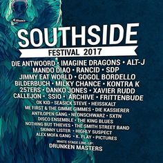 Southside Festival 2017 phase 3 bands announcement
