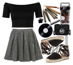 A fashion look from July 2015 featuring short-sleeve button-down shirts, inverted pleat skirts and black lace up sandals. Browse and shop related looks. Ghd, Barneys New York, Aquazzura, Miss Selfridge, Polaroid, Cute Outfits, Michael Kors, Polyvore, How To Wear