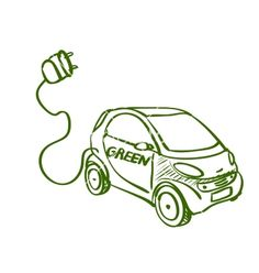 Doodle electric car vector image on VectorStock Earth Day Drawing, Earth Drawings, Doodle Drawings, Car Vector, Vector Art, Electric Car, Zero Waste, Eco Friendly, Doodles