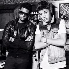Another great shot from the @justinbieber @usherraymondiv photo shoot for the BBMAS. #justinbieber #usher #bbma