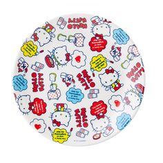 Sanrio Original Hello Kitty Melamine Plate Dessert Camping Party Dish GKHK257