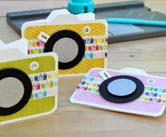card camera film photographer Blush Crafts: Mini camera card with the envelope punch board. Envelope Punch Board Projects, Envelope Maker, Camera Cards, Shaped Cards, Card Tutorials, Card Kit, Kids Cards, Homemade Cards, Stampin Up Cards