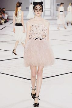 "Giambattista Valli Spring 2015 Couture :: This is Glamorous  IMPOSSIBLE conversations, the Metropolitan Museum's ""dialogue"" between Elsa Schiaparelli and Miuccia Prada, inspired Giambattista Valli to create an impossible conversation of his own between COCO CHANEL and Janis Joplin. —Tim Blanks"