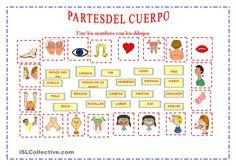 PARTES DEL CUERPO Spanish Class, Teaching Spanish, Spanish Immersion, Kindergarten, Diagram, Classroom, Teacher, Monsters, Routine