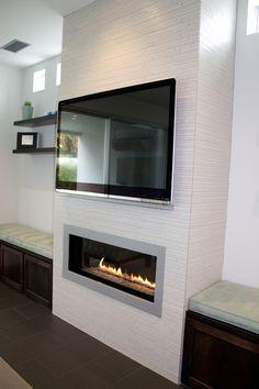 Malkus Residence, Fireplace (Linear Broadway White Porcelain)