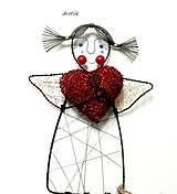 Dekorácie - Anjelik lásky... - 6117502_