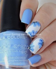 There is a plethora of Easy Spring Nail Designs for Short Nails you can try out at home. They are not just easy to create but also extremely eye-catchy. Nail art is universal, and is for all kinds of nails-short and long. Nail Art Designs, Short Nail Designs, Simple Nail Designs, Nails Design, Nail Design Spring, Spring Nail Art, Spring Nails, Nail Designs For Summer, Cute Nails
