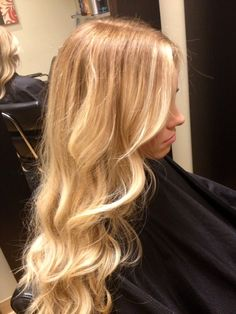 Get these kind of Beautiful Blonde results with Aloxxi Hair Color. It is the best. Available at Desert Viking.