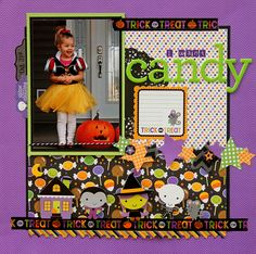 Doodlebug Design Inc Blog: Ghouls & Goodies: Boo Bash + I Want Candy Layouts