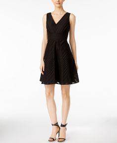 Calvin Klein Sleeveless V-Neck Fit & Flare Dress