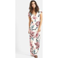 650db7e3b6c KENDALL + KYLIE at Topshop Floral Print Jumpsuit ( 105) ❤ liked on Polyvore  Look