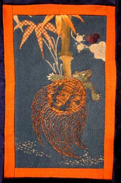 yuzen fragment with tortoise, bamboo IMG_2994 from Daily Japanese Textile